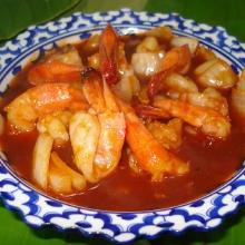 C11 - Crevettes sauce piquante